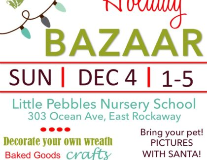 Holiday BAZAAR Sun 12/4 1pm to 5pm Pictures with Santa for your four legged and two legged friends!