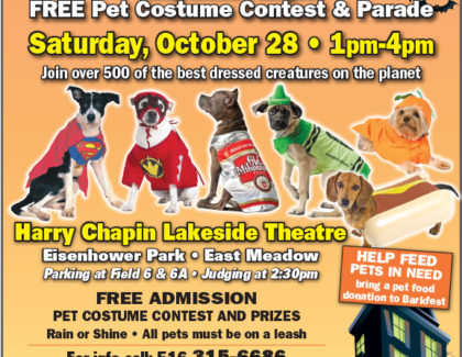 Adoptions At Barkfest Saturday October 28th 1-4pm LAKESIDE THEATRE EISENHOWER PARK